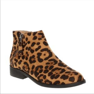 NWT time and tru leopard print booties